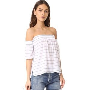 NWT RAILS | White Isabelle Off Shoulder Top